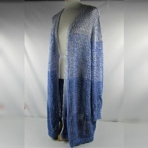 INC International Concepts Blue Ombre Cardigan 3X
